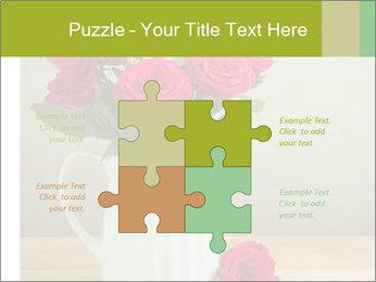 Rose flower bouquet PowerPoint Template - Slide 43