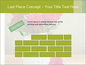 Rose flower bouquet PowerPoint Template - Slide 46