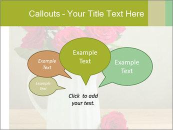 Rose flower bouquet PowerPoint Template - Slide 73