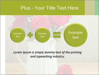 Rose flower bouquet PowerPoint Template - Slide 75