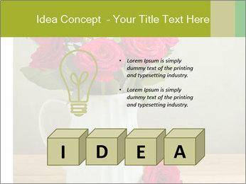 Rose flower bouquet PowerPoint Template - Slide 80