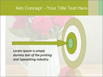 Rose flower bouquet PowerPoint Template - Slide 83