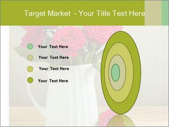 Rose flower bouquet PowerPoint Template - Slide 84