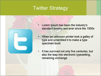 Rose flower bouquet PowerPoint Template - Slide 9