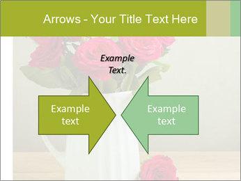 Rose flower bouquet PowerPoint Template - Slide 90