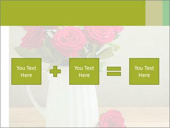 Rose flower bouquet PowerPoint Template - Slide 95