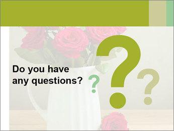 Rose flower bouquet PowerPoint Template - Slide 96