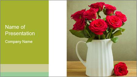 Rose flower bouquet PowerPoint Template