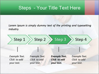 Man writing on a paper PowerPoint Templates - Slide 4