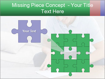 Man writing on a paper PowerPoint Templates - Slide 45