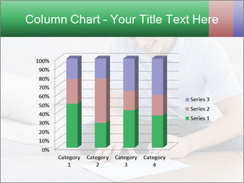 Man writing on a paper PowerPoint Templates - Slide 50