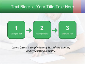 Man writing on a paper PowerPoint Templates - Slide 71
