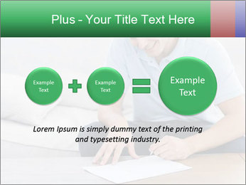 Man writing on a paper PowerPoint Templates - Slide 75