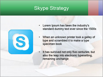 Man writing on a paper PowerPoint Templates - Slide 8