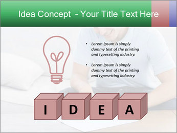 Man writing on a paper PowerPoint Templates - Slide 80