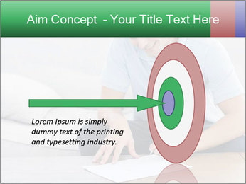 Man writing on a paper PowerPoint Templates - Slide 83