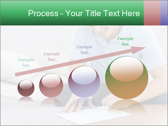 Man writing on a paper PowerPoint Templates - Slide 87