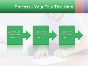 Man writing on a paper PowerPoint Templates - Slide 88