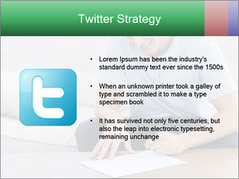 Man writing on a paper PowerPoint Templates - Slide 9