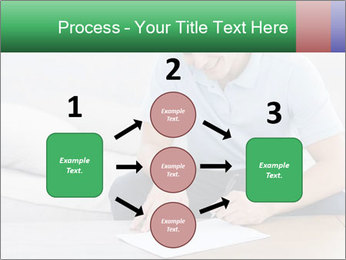 Man writing on a paper PowerPoint Templates - Slide 92