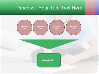 Man writing on a paper PowerPoint Templates - Slide 93