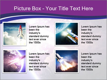 Space shuttle taking off on a mission PowerPoint Templates - Slide 14