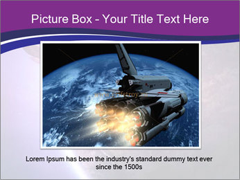 Space shuttle taking off on a mission PowerPoint Templates - Slide 16