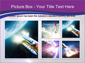 Space shuttle taking off on a mission PowerPoint Templates - Slide 19