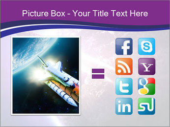 Space shuttle taking off on a mission PowerPoint Templates - Slide 21