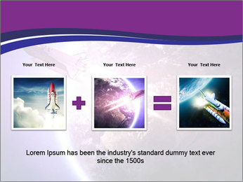 Space shuttle taking off on a mission PowerPoint Templates - Slide 22