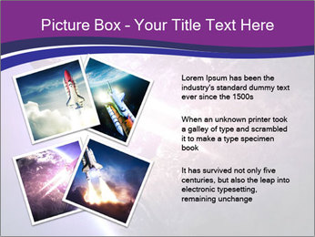 Space shuttle taking off on a mission PowerPoint Templates - Slide 23
