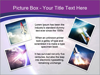 Space shuttle taking off on a mission PowerPoint Templates - Slide 24