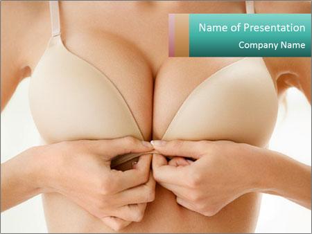 Wearing bra PowerPoint Templates