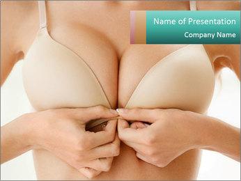 Wearing bra PowerPoint Templates - Slide 1