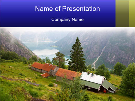 Kjeasen farm PowerPoint Templates