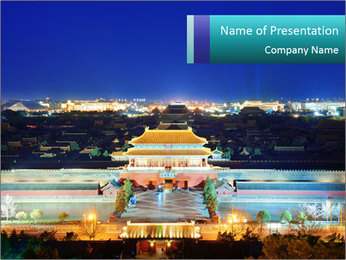 Beijing Forbidden City PowerPoint Templates - Slide 1