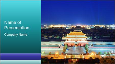 Beijing Forbidden City PowerPoint Template