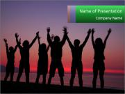 Silhouettes in sunset PowerPoint Templates