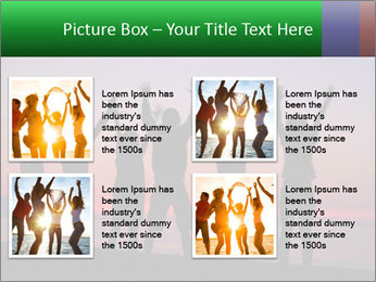 Silhouettes in sunset PowerPoint Template - Slide 14
