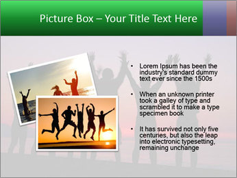 Silhouettes in sunset PowerPoint Template - Slide 20