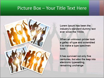 Silhouettes in sunset PowerPoint Template - Slide 23