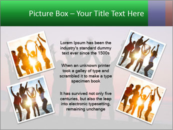 Silhouettes in sunset PowerPoint Template - Slide 24