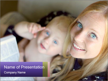 Young Christian woman PowerPoint Template