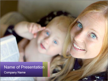 Young Christian woman PowerPoint Template - Slide 1