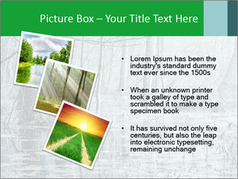Swamp in fog PowerPoint Template - Slide 17