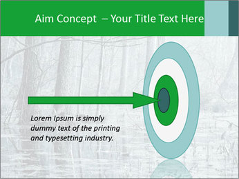 Swamp in fog PowerPoint Template - Slide 83