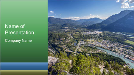 Squeamish town PowerPoint Template