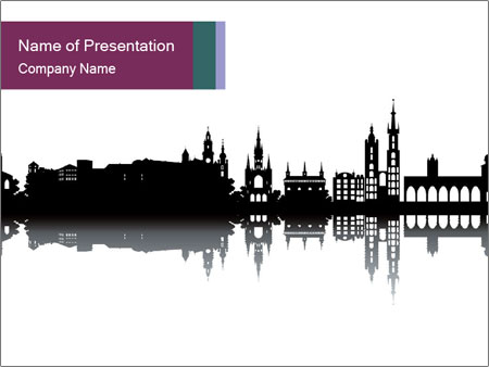 Krakow skyline PowerPoint Template