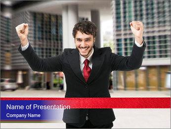 Active businessman running PowerPoint Template - Slide 1