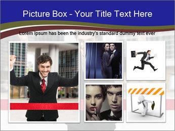 Active businessman running PowerPoint Template - Slide 19